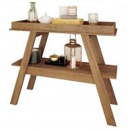 Table Console Chêne 2 Plateaux  108 cm