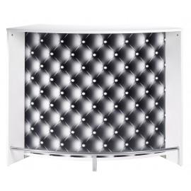 Comptoir d'Acceuil 2 Portes Blanc 135 cm