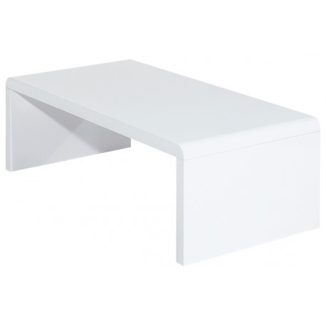 table basse blanche rectangle panneaux epais. Black Bedroom Furniture Sets. Home Design Ideas