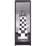 Classeur à rideau noir hauteur 104 cm Tour Eiffel
