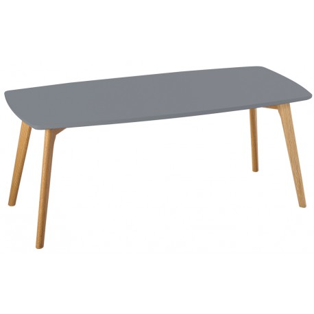 Table Basse Grise 4 Pieds Chêne