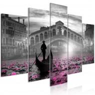 Tableau  Magic Venice (5 Parts) Wide Grey