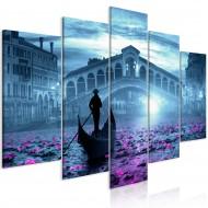 Tableau  Magic Venice (5 Parts) Wide Blue