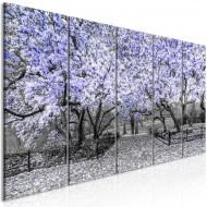 Tableau  Magnolia Park (5 Parts) Narrow Violet