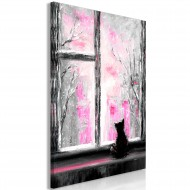 Tableau  Longing Kitty (1 Part) Vertical Pink