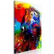 Tableau  Lion and Watercolours (1 Part) Vertical