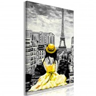 Tableau  Paris Colour (1 Part) Vertical Yellow