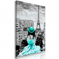 Tableau  Paris Colour (1 Part) Vertical Green