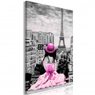 Tableau  Paris Colour (1 Part) Vertical Pink