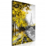 Tableau  Paris Channel (1 Part) Vertical Yellow