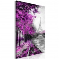 Tableau  Paris Channel (1 Part) Vertical Pink