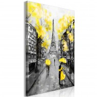 Tableau  Paris RendezVous (1 Part) Vertical Yellow