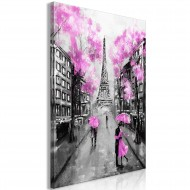 Tableau  Paris RendezVous (1 Part) Vertical Pink
