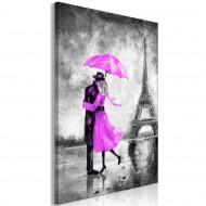 Tableau  Paris Fog (1 Part) Vertical Pink