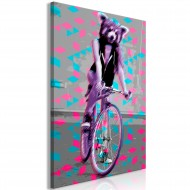 Tableau  Raccoon On The Bike (1 Part) Vertical