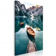 Tableau  Boats In Dolomites (1 Part) Vertical
