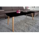 Table Basse Noire 4 Pieds Chêne