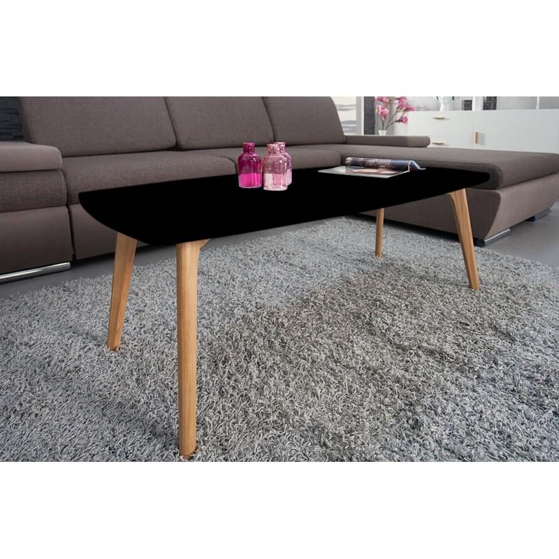 Table basse noire 4 pieds ch ne for Petite table basse noire