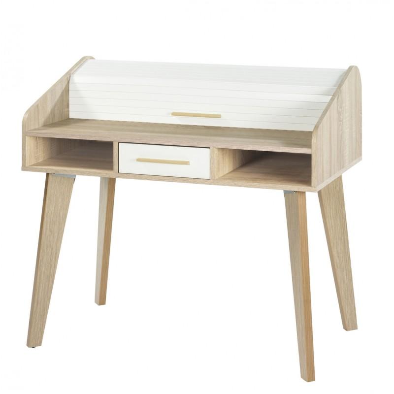 bureau dos d 39 ne vintage rideau blanc beaux meubles pas chers. Black Bedroom Furniture Sets. Home Design Ideas