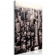Tableau  Manhattan In Sepia (1 Part) Vertical