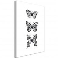 Tableau  Three Butterflies (1 Part) Vertical