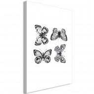 Tableau  Four Butterflies (1 Part) Vertical