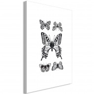 Tableau  Five Butterflies (1 Part) Vertical