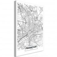 Tableau  Map of Frankfurt (1 Part) Vertical
