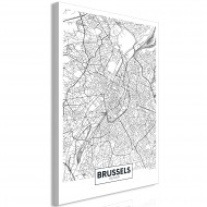 Tableau  Map of Brussels (1 Part) Vertical