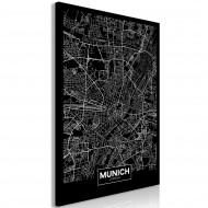 Tableau  Dark Map of Munich (1 Part) Vertical