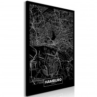 Tableau  Dark Map of Hamburg (1 Part) Vertical