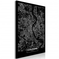 Tableau  Dark Map of Cologne (1 Part) Vertical