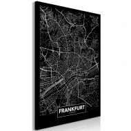 Tableau  Dark Map of Frankfurt (1 Part) Vertical