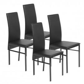 4 Chaises Noires