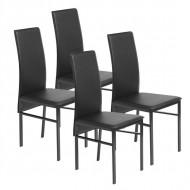 Lot de 4 Chaises Noires pas cher