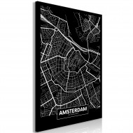 Tableau  Dark Map of Amsterdam (1 Part) Vertical