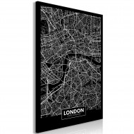 Tableau  Dark Map of London (1 Part) Vertical