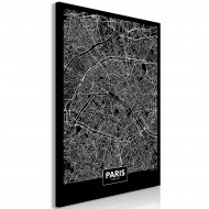 Tableau  Dark Map of Paris (1 Part) Vertical