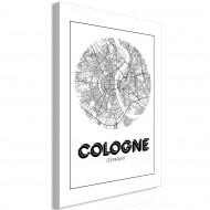 Tableau  Retro Cologne (1 Part) Vertical