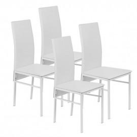 Lot de 4 Chaises Blanches