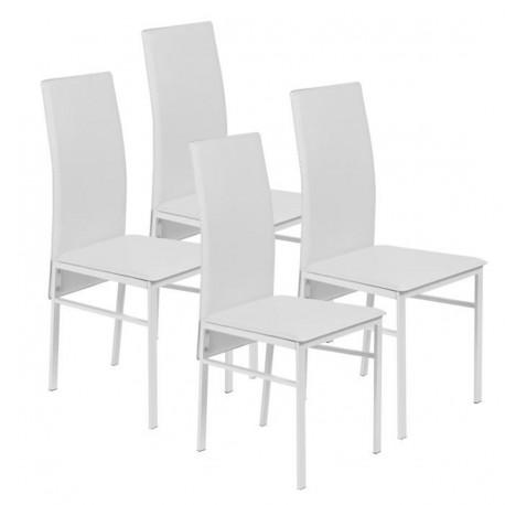 soldes chaises blanches chaises cuisine design lot de 2