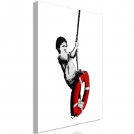 Tableau  Banksy Boy on Rope (1 Part) Vertical