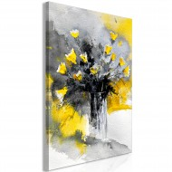 Tableau  Bouquet of Colours (1 Part) Vertical Yellow