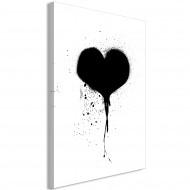 Tableau  Destroyed Heart (1 Part) Vertical