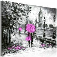 Tableau  Walk in London (1 Part) Wide Pink