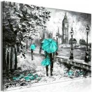 Tableau  Walk in London (1 Part) Wide Turquoise