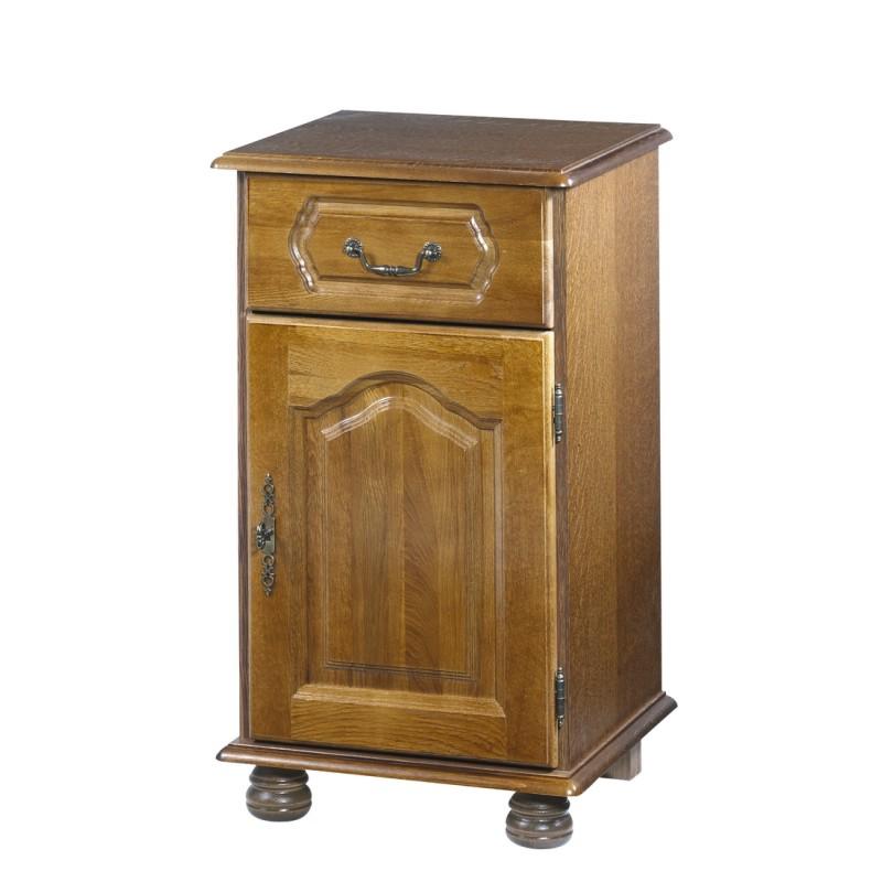 Confiturier ch ne rustique porte droite beaux meubles for Meuble de rangement sejour
