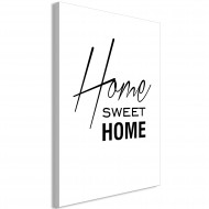 Tableau  Black and White Home Sweet Home (1 Part) Vertical