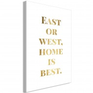 Tableau  Gold Home Is Best (1 Part) Vertical