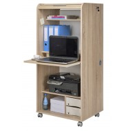 Armoire Informatique Mobile Chene Naturel